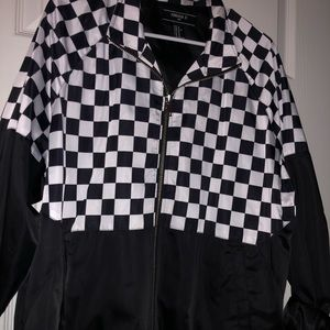 forever 21 - checkered bomber jacket🏁